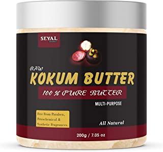 Seyal Raw Kokum Butter Unrefined Organic for Skin and Body (200g)