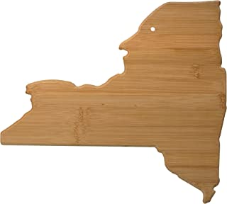 Totally Bamboo New York State Shaped Bamboo Serving & Cutting Board