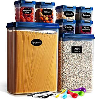 Lockcoo 8 PCS Boîtes Alimentaire Hermétique Plastique Boite Conservation Rangement avec Couvercle Bocal, Boite hermetique ...