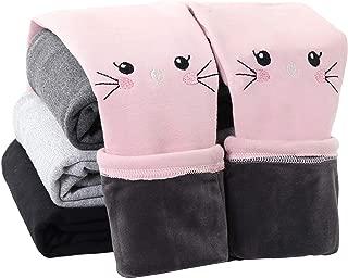 Winter Girls Cotton Fleece Lined Leggings Pants