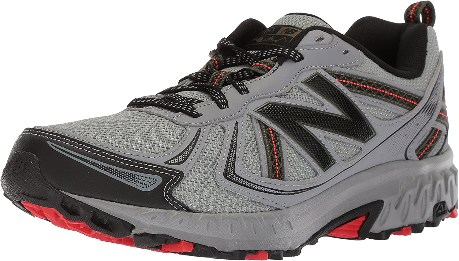 New Balance Men's MT410v5 Cushioning Trail Running schuhe, Steel, 10 D US