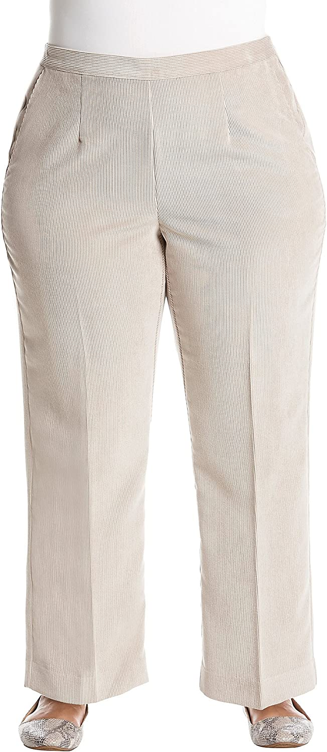 Alfred Dunner Plus Size Corduroy Pants Tan 20W Short