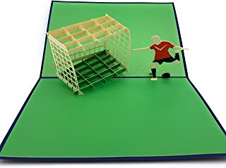 Perfect soccer fan gift - 3D pop up soccer player card ideal for tournament winners UEFA Champions league Barcelona Real Madrid Manchester United PSG Juventus LA Galaxy Beckham Cristiano Ronaldo fans