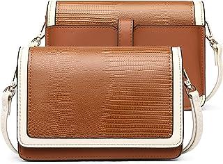 Leder Damen Umhängetasche Geldbörse Brieftasche Damen Clutch Klein Crossbody Bag