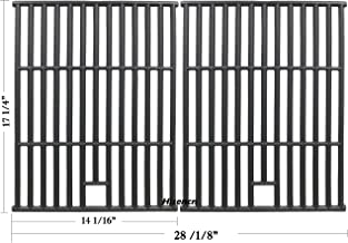 Hisencn Cast Iron Cooking Grid Set Replacement for Nexgrill 720-0582B, 720-0649, 720-0778A, Uniflame GBC1273W, Grill King 810-8425-S, SS72B and Others Gas Grill Models, Grill Grates