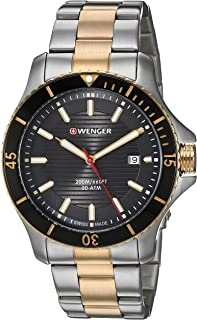 Wenger Men's Seaforce Swiss-Quartz Two-Tone-Stainless-Steel Strap, 22 Casual Watch (Model: 01.0641.127)