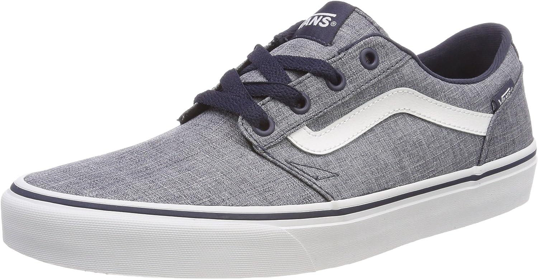 Vans Mens Chapman Stripe Trainers Casual Plimsole shoes bluee White