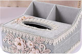 Arrival Tissue Box Home Flower Decoration Lace 4 Color Napkin Holder Oval Shape Differ Tissue Boxes OH,XH Blue M