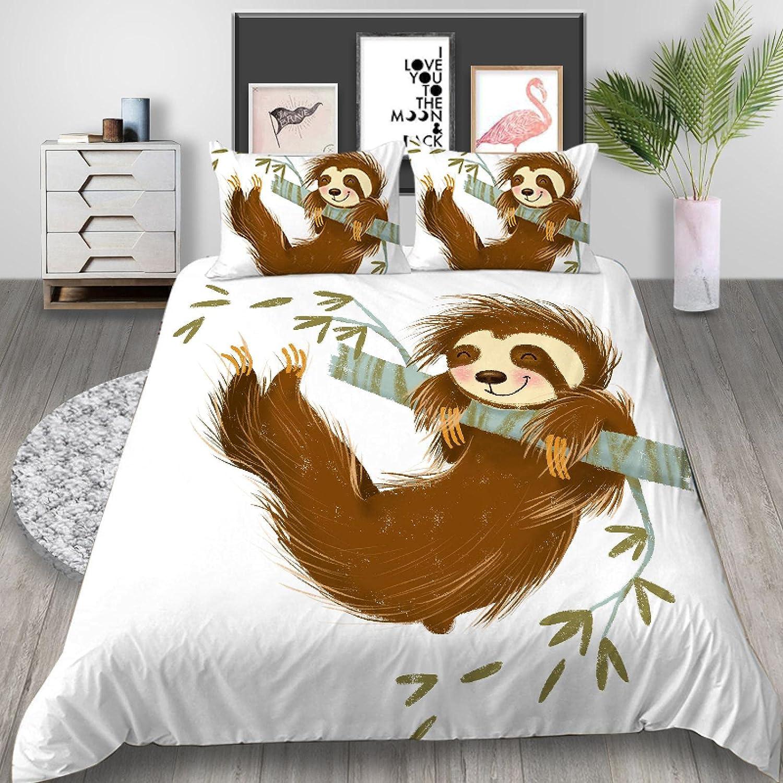 dsgsd Super King Duvet Max 64% OFF Cover Set Animal Cartoon Cute Sloth 230Ã Weekly update