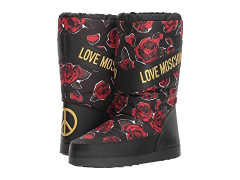 LOVE Moschino Rose Print Snow Boot HPgnypdD