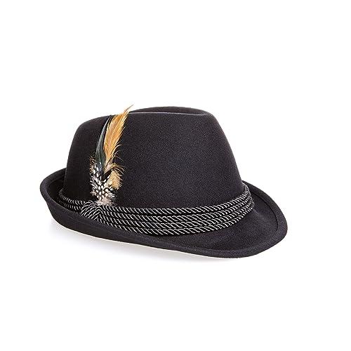 502d8e3d866 Holiday Oktoberfest Wool Bavarian Alpine Hat - Black Color