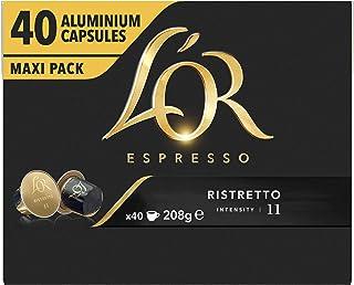 L'OR Espresso Koffiecups Ristretto (160 Ristretto Koffie Capsules, Geschikt voor Nespresso* Koffiemachines, Intensiteit 1...