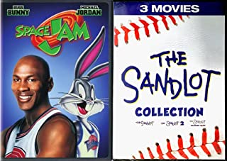1/2/3 Collection Sandlot Baseball Kids Sport Feature & Space Jam Special Cover Movie Bundle Heading Home adventure action Family Fun 4 feature