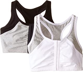 Fruit Of The Loom womens Front Close Racerback (pack Of 2) Sports Bra (pack of 2)