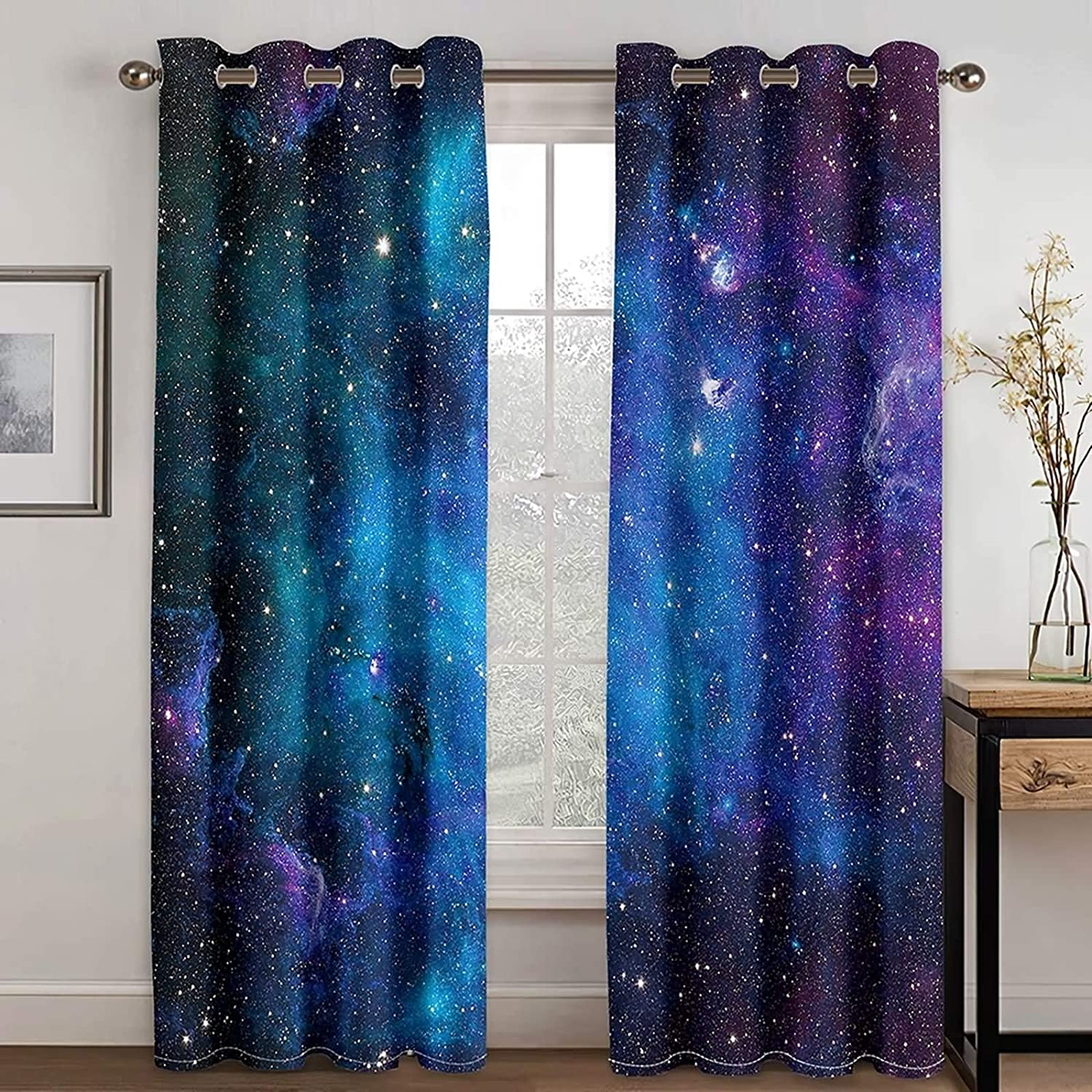 Daesar Bedroom Blackout Curtains 2 Drapes All items in the store Sets Panel f Now on sale