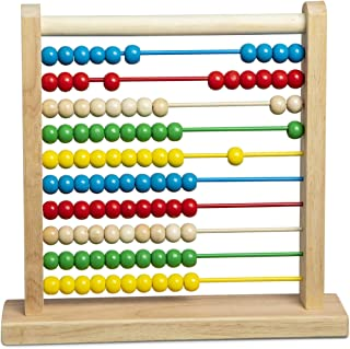 Melissa & Doug 493 Abacus - Classic Wooden Educational Counting Toy with 100 Beads, 11.9 x 12 inches