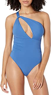Seafolly Women's Shoulder Cut Out One Piece Swimsuit, Marina Blue, 8