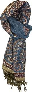 Plum Feathers Tapestry Ethnic Paisley Pattern Pashmina Scarf