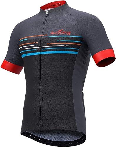 More Mile Summer Mens Cycling Jersey Half Zip Short Sleeve Bike Cycle Ride Top