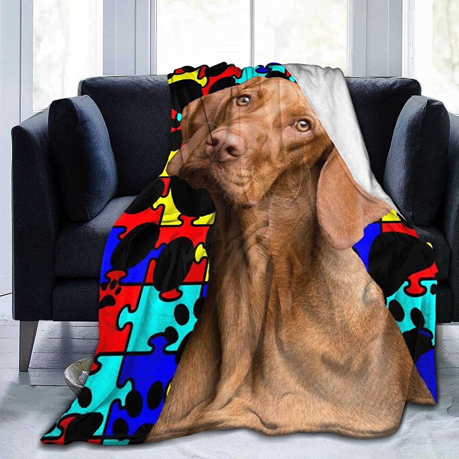 Gelipmart Dachshund Paw New mail order Autism Courier shipping free shipping Flannel Micro Throw Blanke Fleece