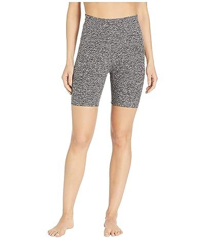 Beyond Yoga Spacedye High Waisted Biker Shorts (Black/White) Women
