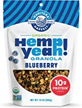 Manitoba Harvest Hemp Yeah! Granola, Blueberry, 10oz, with 10 g of Protein, 3.6 g Omegas, 3 g of Fiber and less than 10 g ...
