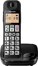Panasonic KX-TGE310SPB- Teléfono Fijo Inalámbrico (LCD Grande, Teclas Grandes, Agenda de 50 Números, Bloqueo de Llamadas, Modo ECO, Compatible con Audífonos) - Color Negro