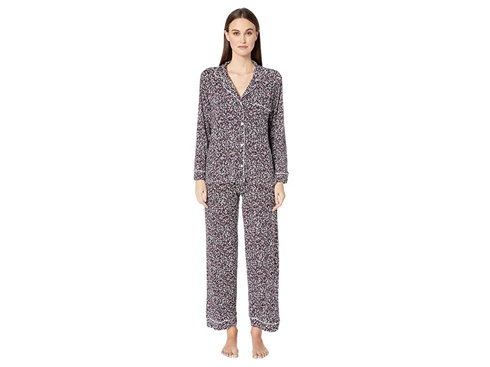 Eberjey Holly The Long Pajama Set (Black/Ivory) Women