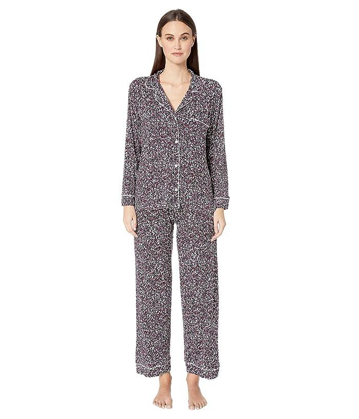 Eberjey Holly The Long Pajama Set (Black/Ivory) Women