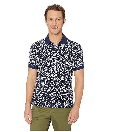 ae39f4034aaa Lacoste Keith Haring All Over Printed Mini Pique Polo Classic Fit at ...