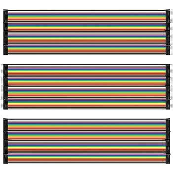AZDelivery Jumper Wire Cable 3 x 40 pcs. chaque 20 cm M2M/ F2M / F2F compatible avec Arduino et Raspberry Pi Breadboard incluant un Ebook !