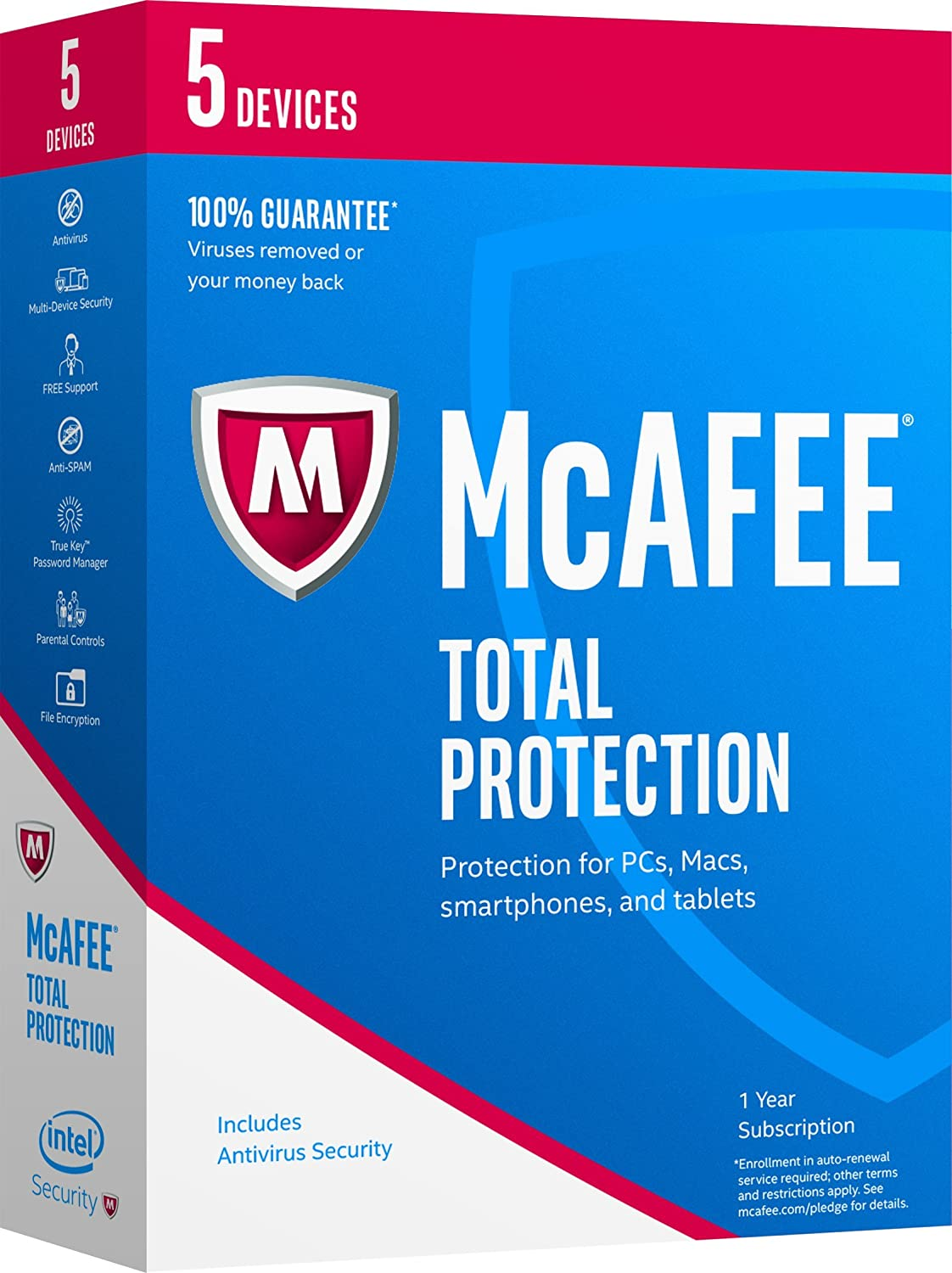 McAfee 2017 excellence Total Protection-5 SALENEW very popular Code Devices Key