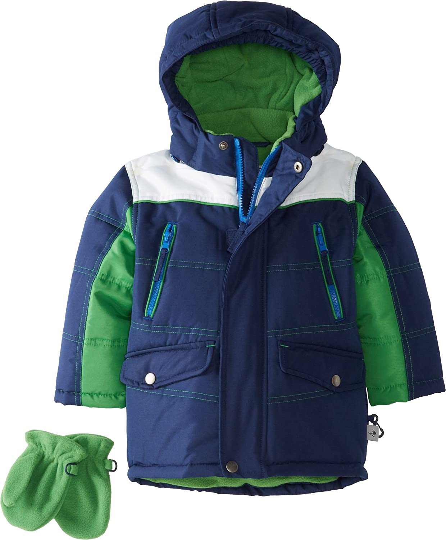 Rothschild Little Boys' Puffy San Jose Mall Colorblock 4T Navy 4 years warranty Jacket