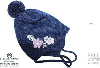 Cappello blu pura lana Aidi - Realizzati a Mano - Made in Italy-HandaMade-Regali ragazza-Prodotto Artigianale-idee regali ...