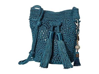 The Sak Sayulita Mini Drawstring (Deep Teal) Handbags