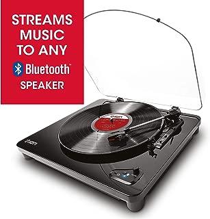 ION Audio Air LP - Tocadiscos de vinilo de tres velocidades con Bluetooth y conversión USB, acabado en piano negro