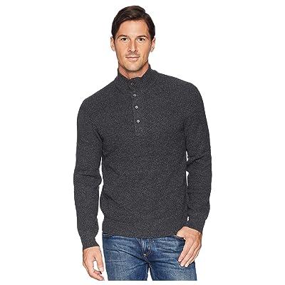 Polo Ralph Lauren Textured Loryelle Mock Neck Sweater (Charcoal Marl) Men