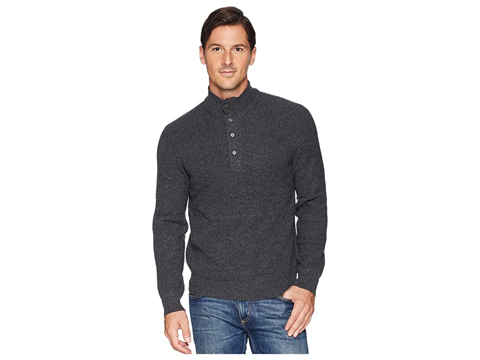 Polo Ralph Lauren Textured Loryelle Mock Neck Sweater (Charcoal Marl) Men