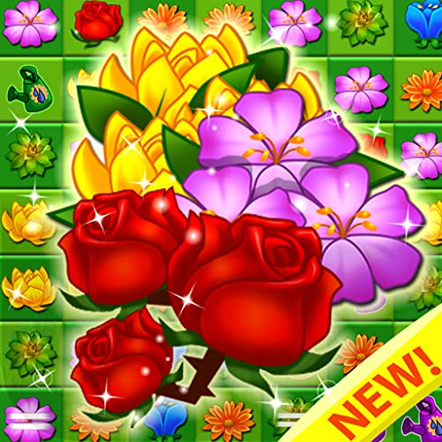 Blossom Garden - Flower Puzzles New Match 3 Games! Blast, Pop Free