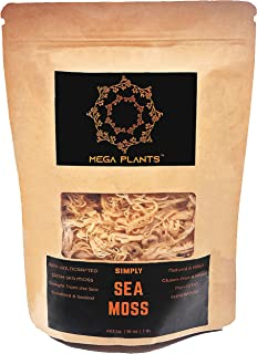 MegaPlants Irish Sea Moss 16 Oz - 100% Wildcrafted Chemical-Free, Preservative-Free, Non-GMO, Gluten-Free, Vegan, Raw SuperFood. Grown in Protected Oceans. Straight from the Sea, Sundried & Sealed.