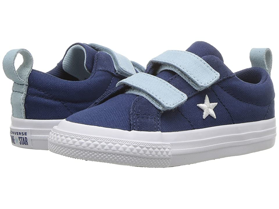 Converse Kids One Star 2V Ox (Infant/Toddler) (Navy/Ocean Bliss/White) Boys Shoes