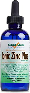 Good State Liquid Ionic Zinc Plus - Ultra Concentrate (10 Drops Equal 15 mg - 200 Servings per Bottle)