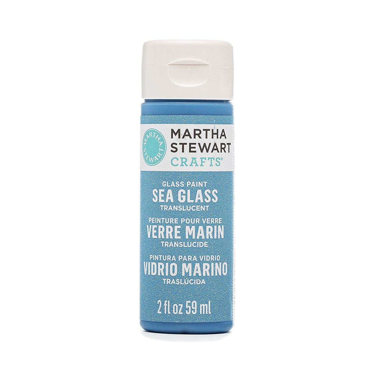 Martha Stewart Crafts Translucent Sea Glass Paint, in Assorted Colors (2 ounces), Blue Calico