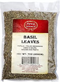 Dried Basil Leaves 7oz (200g) - Natural, Non-GMO, Vegan, Ayurveda Herb - by Spicy World