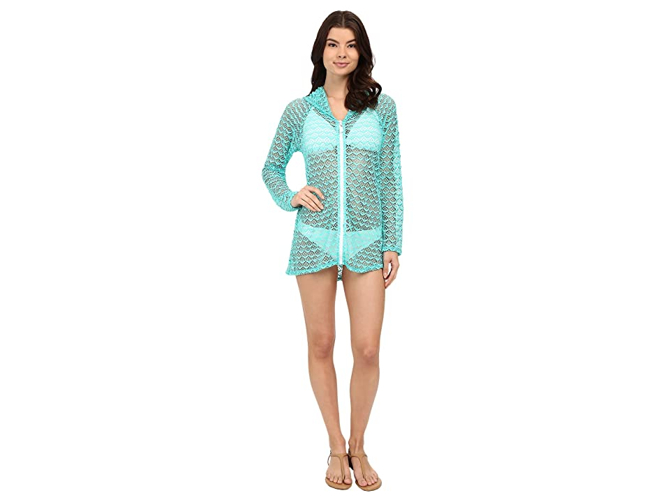 Nautica Absolutely Shore Hooded Long Sleeve Tunic NA24706 (Aqua) Women