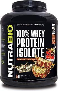 NutraBio 100% Whey Protein Isolate (Bourbon Banana Nut, 5 Pounds)