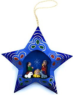 3D Diorama Nativity Scene Christmas Tree Ornament - Handmade