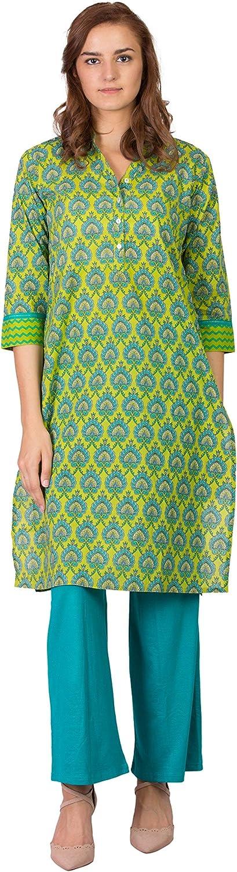 SABHYATA Womens Kurta Indian Kurtis for Women Casual Tunic Kurti Tops Long Dress