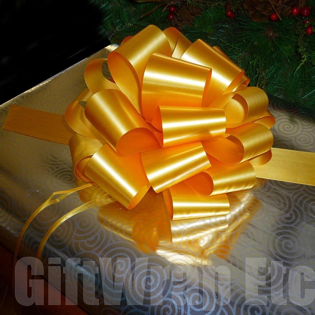 Large Gold Ribbon Pull Bows - 9