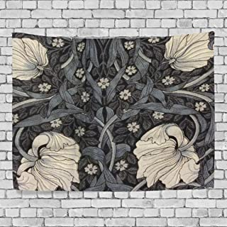 JSTEL William Morris Prints Printed Modern Art Tapestry Home Wall Decoration Wall Hanging Decor Dorm Bedroom Living Room Decorations Polyester Fabric 60 x 51 inches